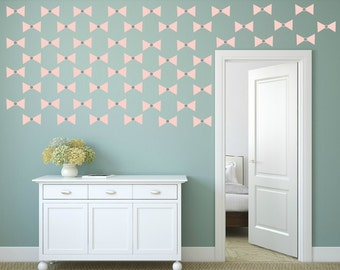 FREE SHIPPING Wall Decal Papillon Color Light Pink & Gray. 60 Wall Decal. Nursery Decal. Vinyl Decal. Home Decor. Housewares.