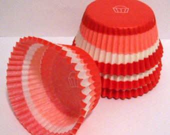 Red Swirl Cupcake Liners- Choose Set of 50 or 100