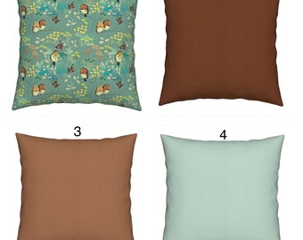 Robins throw cushions brown pillow scatter pillows cushions cover throw pillow garden cushions