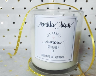 Eunoia Natural Soy Candle (multiple scent options)