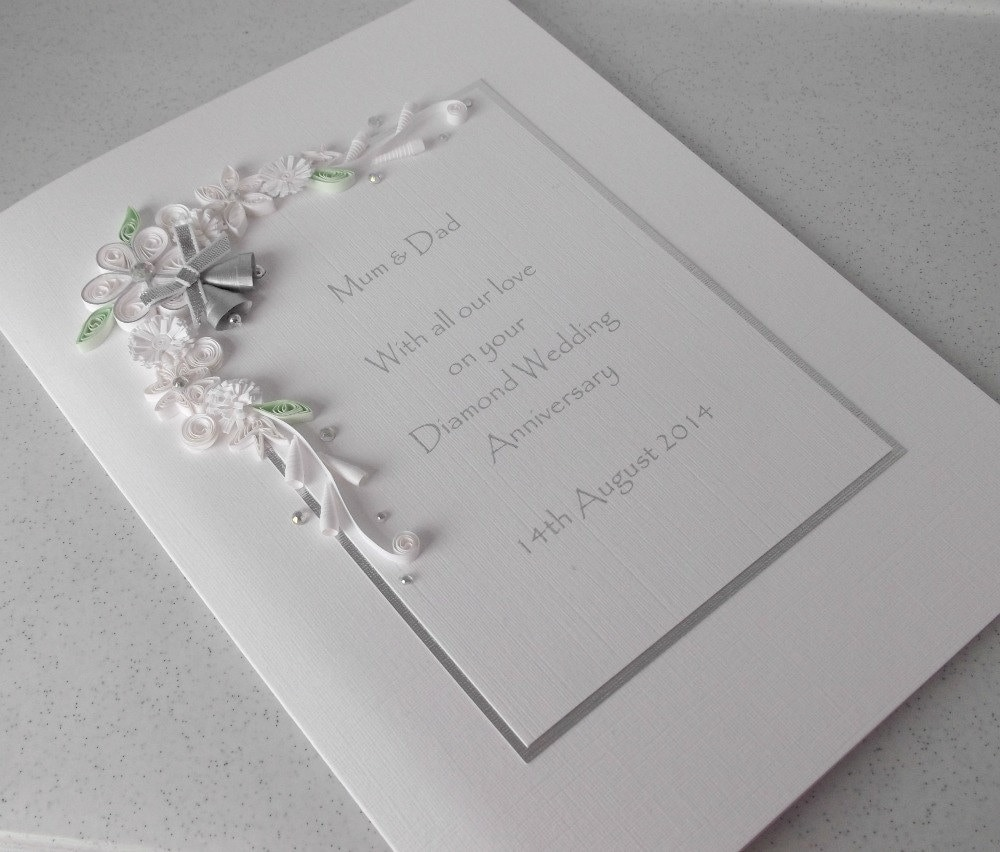 60th diamond wedding anniversary card personalised handmade zoom stopboris Image collections