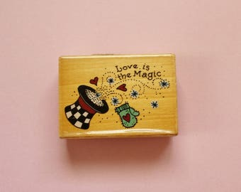 Love is the Magic Rubber Stamp  Uptown Rubber Stamps