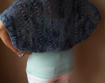 Knitted  Shrug Bolero Summer Shrug  Blue