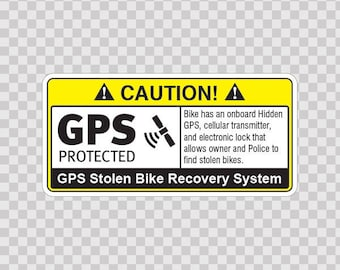Sticker Decal Gps Protected Prevention Sign 14061