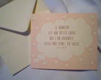 Greeting card with quote and Ecru envelope