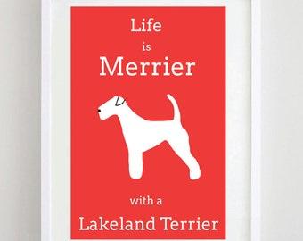 Lakeland Terrier Print - Dog Print - Dog Art - Dog Picture - Dog Breed