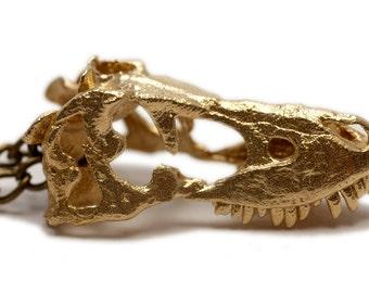 Tarbosaurus Dinosaur Skull Pendant  Necklace Skull Pendant 925 Sterling Silver Dinosaur Jewelry Tyrannosaurus