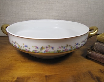 Vintage Haviland France Casserole Dish - No Lid - Decorated by Haviland & Co. Limoges #33926