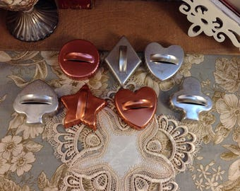 Lot of 7 Vintage cookie cutters  Lot #2
