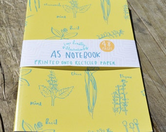 Herbs and Vegetables Notebook