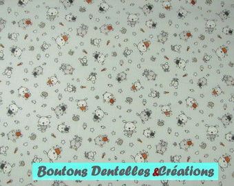 Kids fabric: Cuddly Orange and gray; width 140cm