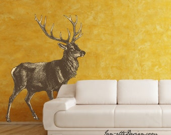 Large Deer Wall Decal,Removable and Reusable Wall Decal for Home or Office