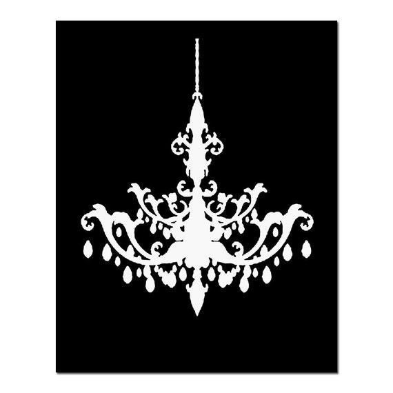 Chandelier 11x14 silhouette print of modern chandelier aloadofball Gallery