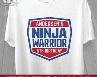 American Ninja Warrior Printable Iron On Transfer - DIY Ninja Warrior Shirt - Ninja Iron On Transfer - American Ninja Warrior DIY