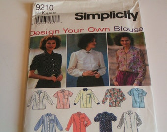 Simplicity Pattern 9210 Design Your On Blouse