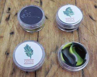 THC molecule sativa indica 10ml Acrylic Weed Silicon I dispenser Dab Jar I Wax Colorado medical Container