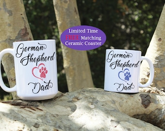 German Shepherd dad mug, German Shepherd mom mug, German Shepherd coffee mug, German Shepherd mug, Puppy, Dog, lover, gift, Dog mug, gift