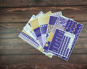 Purple Paradise Planner Sticker Kit, For use with Erin Condren Life Planner, Plum Paper Planner
