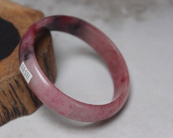 10% OFF- 55/56/57 mm Certified Natural Red Emerald A*Jade Handcarved Bangle H540