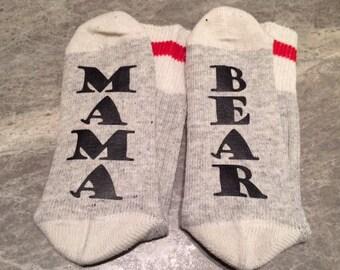 Mama ... Bear or Papa ... Bear (Socks)