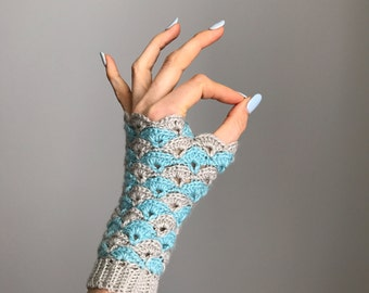 Shell We Dance? Fingerless Gloves - Crochet Pattern - PDF - One Size