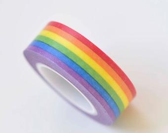 Rainbow Washi Tape Scrapbooking Tape 15mm wide x 10m long No.13188