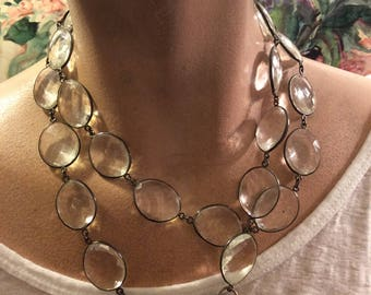 Crystal Necklace with Sterling Silver