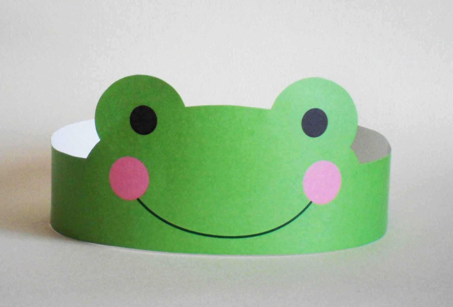 Frog paper crown printable zoom jeuxipadfo Image collections