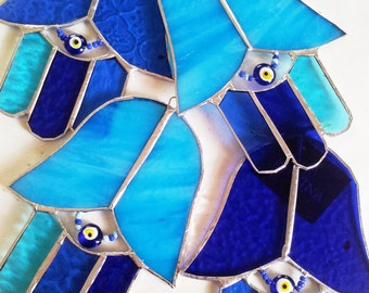 Israel Judaica, Hamsa, Fatima's Hand,  Handmade. Gift Israel. Holly Land Gift. 4 pieces Sale