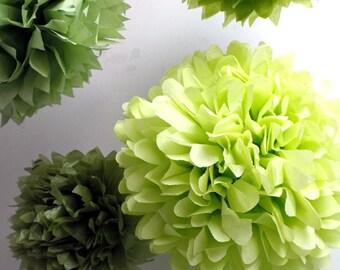 Tissue paper pom pom sale 4 Poms ... Choose Your Colors