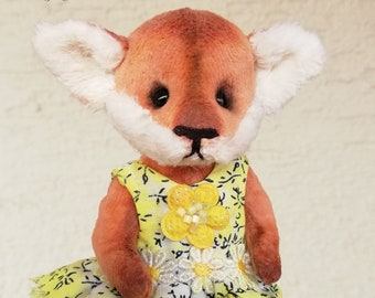 fox,artist teddybear,softtoys, teddybearsforsale, plush toy,handmade stuffed teddybear,LinDDolls, kuscheltier,ooak,мишка,лисёнок,Fuchs