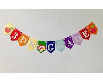 Back to school banner, school banner, Kindergarten banner,First day of school banner, School photo prop, Classroom banner, grade banner,