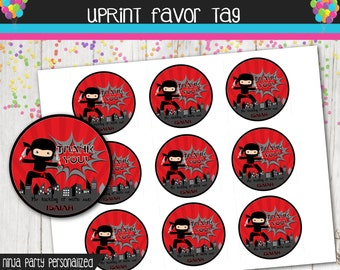 Ninja Thank You Favor Tag - Ninja Party - Printable