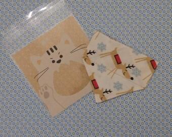 kitten bandana - slip over cat collar bandana - autumn kitten bandanna - kitten bandana - orange cat bandana - bandana for cat