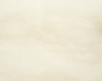 Carded Maori and Bergschaf Wool - Melange Collection - White - 2 ounces