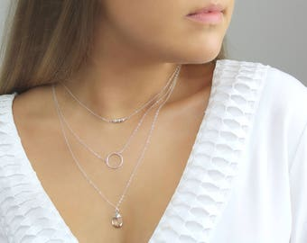 Delicate Circle Necklace. Gold or Silver. Karma Circle Necklace. Open Circle Minimalist Necklace. 14K Gold Fill • Sterling Silver Jewelry.