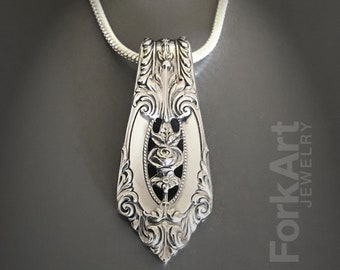Wallace Rose Point sterling silver pendant