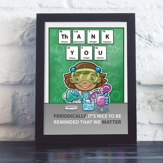 Periodic table thank you postcard gifts for science teachers urtaz Image collections