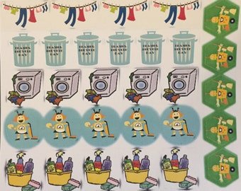 Erin Condren-Chore Stickers (30 stickers)