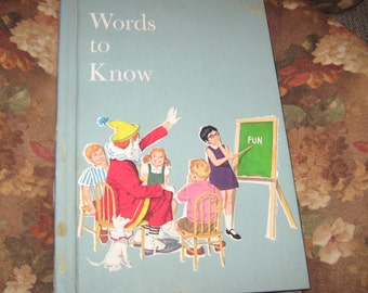Vintage Child's Book Words to Know by Harry Bricker Standard Educational Corp. 1986