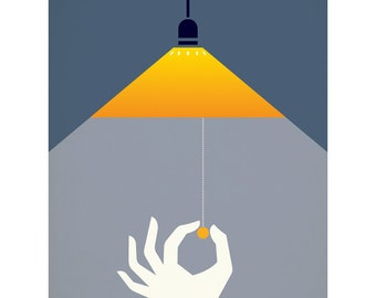 Please Turn Off The Light 40 x 50cm giclee print
