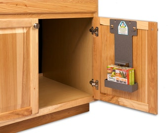 Bon Kitchen Compost Caddy Under Sink Compost System (individual Rack / Bucket  Not Included) With Storage For Compost Bags