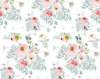 Crib Skirt Full Bloom. Baby Bedding. Crib Bedding. Crib Skirt Girl. Baby Girl Nursery. Pink Floral Crib Skirt. Flower Crib Skirt.