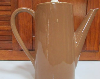 Vintage Porcelain Brown Teapot