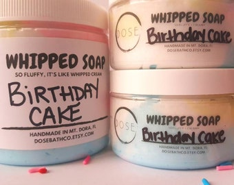 BIRTHDAY CAKE whipped soap x foaming scrub