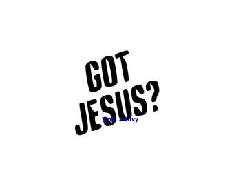 Got Jesus - Car Decal - Vinyl Car Decals, Window Decal, Signage, Laptop Decal, Christian Car Decal, Jesus Decal