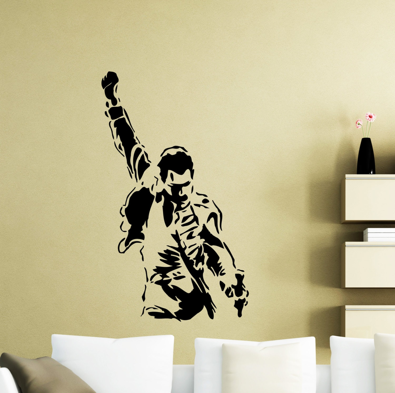 Freddie Mercury Wall Decal Queen Metal Rock Music Band Vinyl