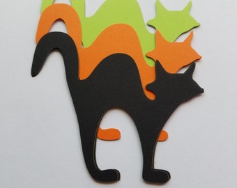 Cat Decoration Scrap Booking Die Cut Outs ( Embellishments, Halloween Decor, etc..)