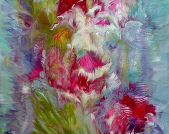 Acrylic painting - abstract floral 12
