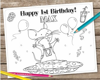 if You Give a Mouse a Cookie Digital Coloring Page, Printable Coloring page